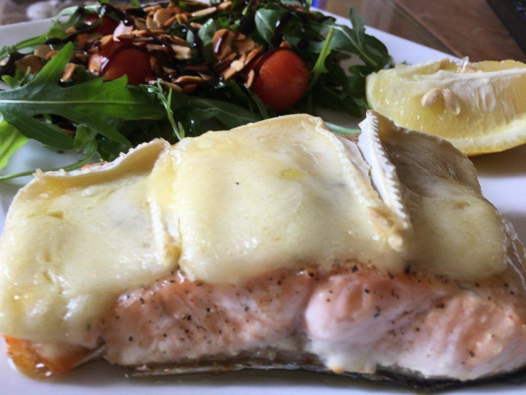 salmón fresco al horno