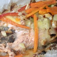 Trucha al papillote con verduras, al horno sabe mejor