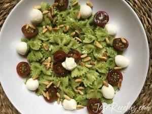 plato de pasta al pesto