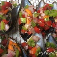 Mejillones al vapor con vinagreta, irresistible plato frío