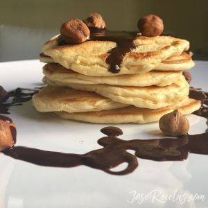 pancake con chocolate