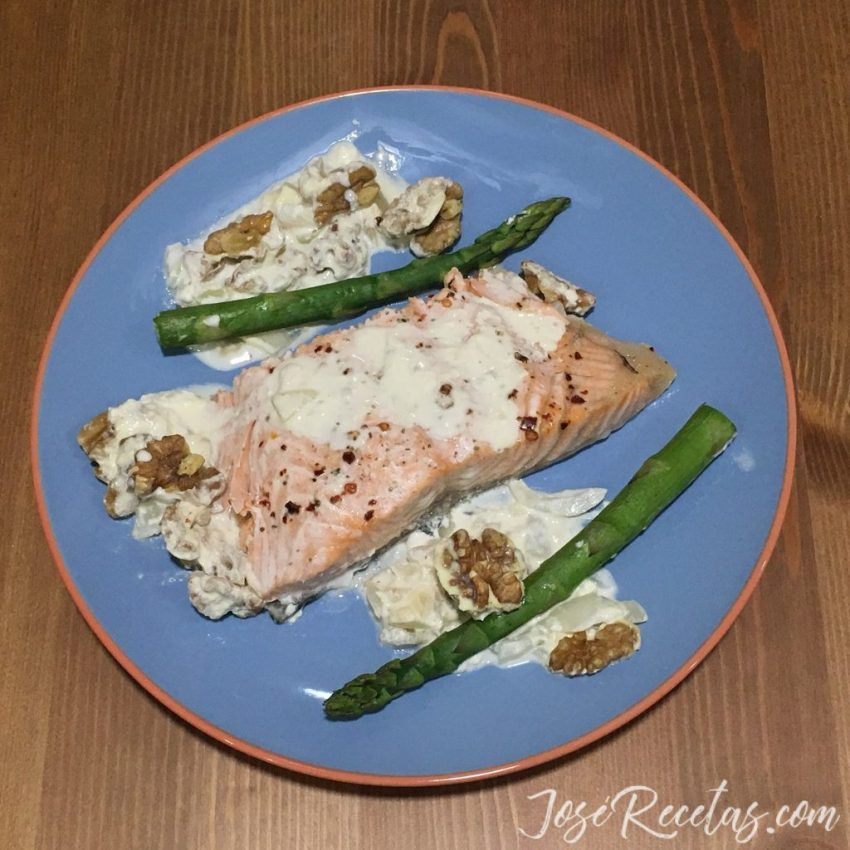 plato de salmón al horno
