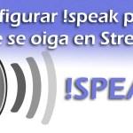 Comando !speak en stream para TTS