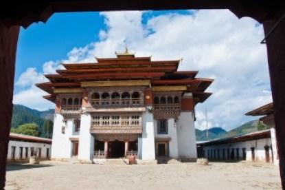 Bhutan -Gangtey Gompa monastery.