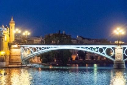Andalusia - Seville's Triana Bridge over the Guadalquivir.