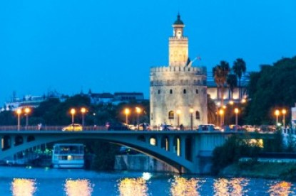 Andalusia - Seville's Torre del Oro tower.