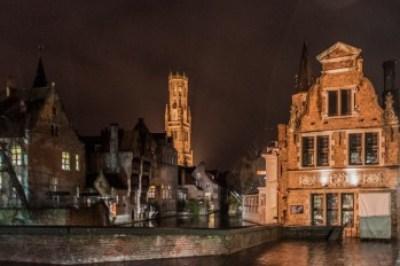 Belgium - Nighttime in Bruges.