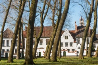 Belgium - The Beguinage in Bruges.