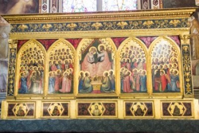 Tuscany - Florence. Giotto Coronation of the Virgin.