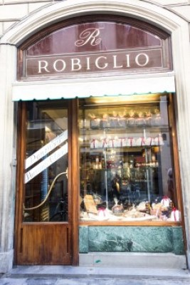 Tuscany - Florence. Robiglio pastry shop.
