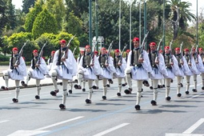 Greece - Athens. Ezvone changing of the guard,