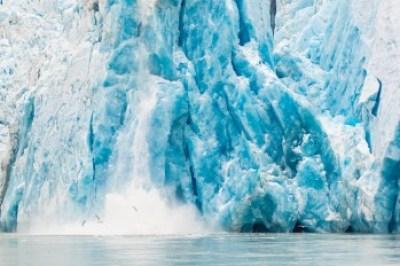 Alaska Inner Passage glacier calving;