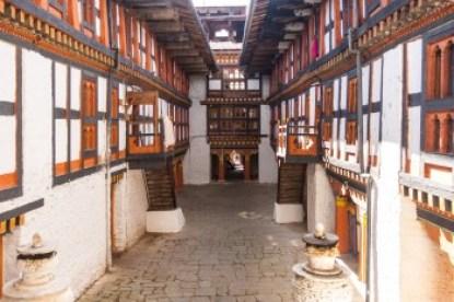 Bhutan -Kurje Lhakhang monastery interior.