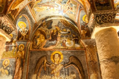 Turkey - Frescoed cave chruch in Cappadocia
