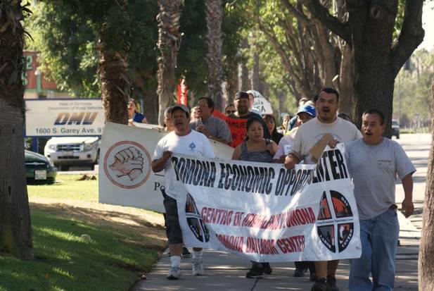 Protesta en apoyo de licencias de manejar
