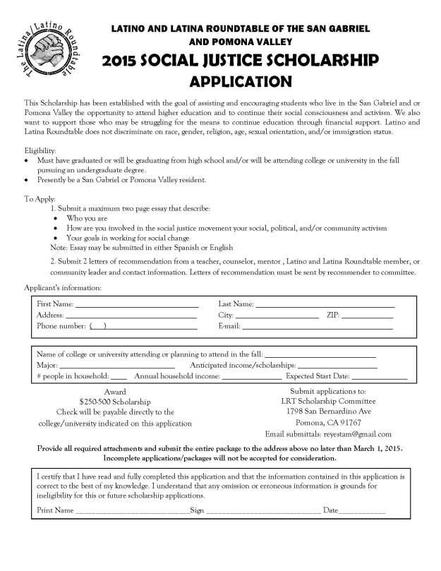 LRT Scholarship Application 2015 (2)