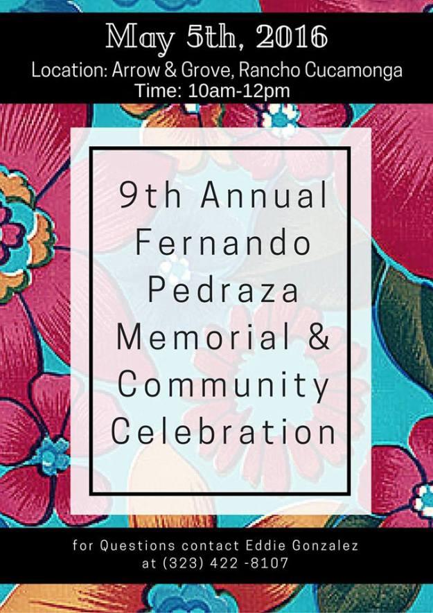 Fernando Pedraza Memorial and Community Celebration 2016