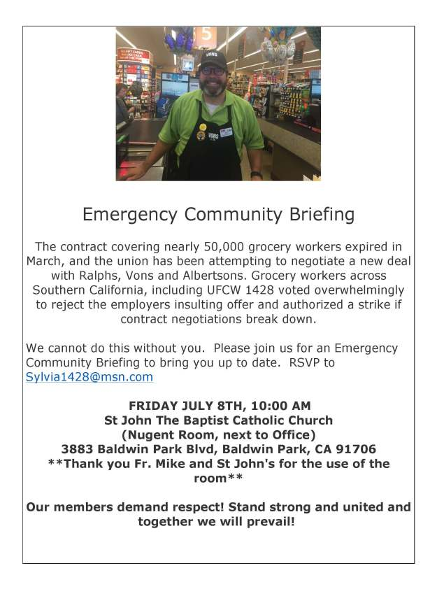 Emergency Community Briefing