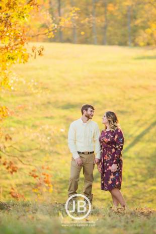 Country Fall Engagement Photos