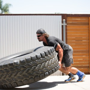 Josh Bridges Tire Flipping