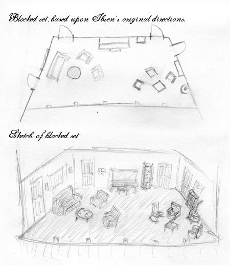 "Ibsen's ""A Doll's House"" Set Design Josh"
