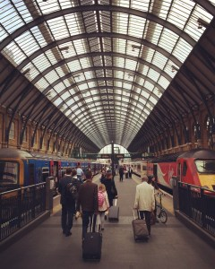King's Cross Station. No wizards that I could spy. But that's what they'd want you to think, isn't it?