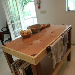 Kitchen Prep Table Inset Cabinets Nomad Out Of Time This