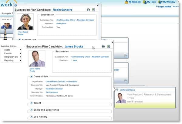 Succession Management Candidate Comparison
