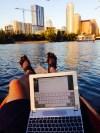 Josh Bolinger on the lake in austin texas