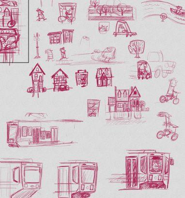 portland poster sketch2 josh cleland