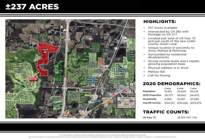 TBD County Road 277, Melissa, Texas 75454, ,Lots & Acreage,For Sale,County Road 277,14591747