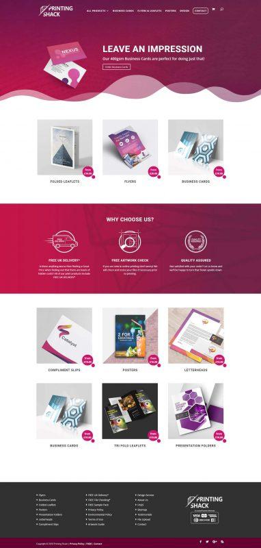 Printing Shack - Website