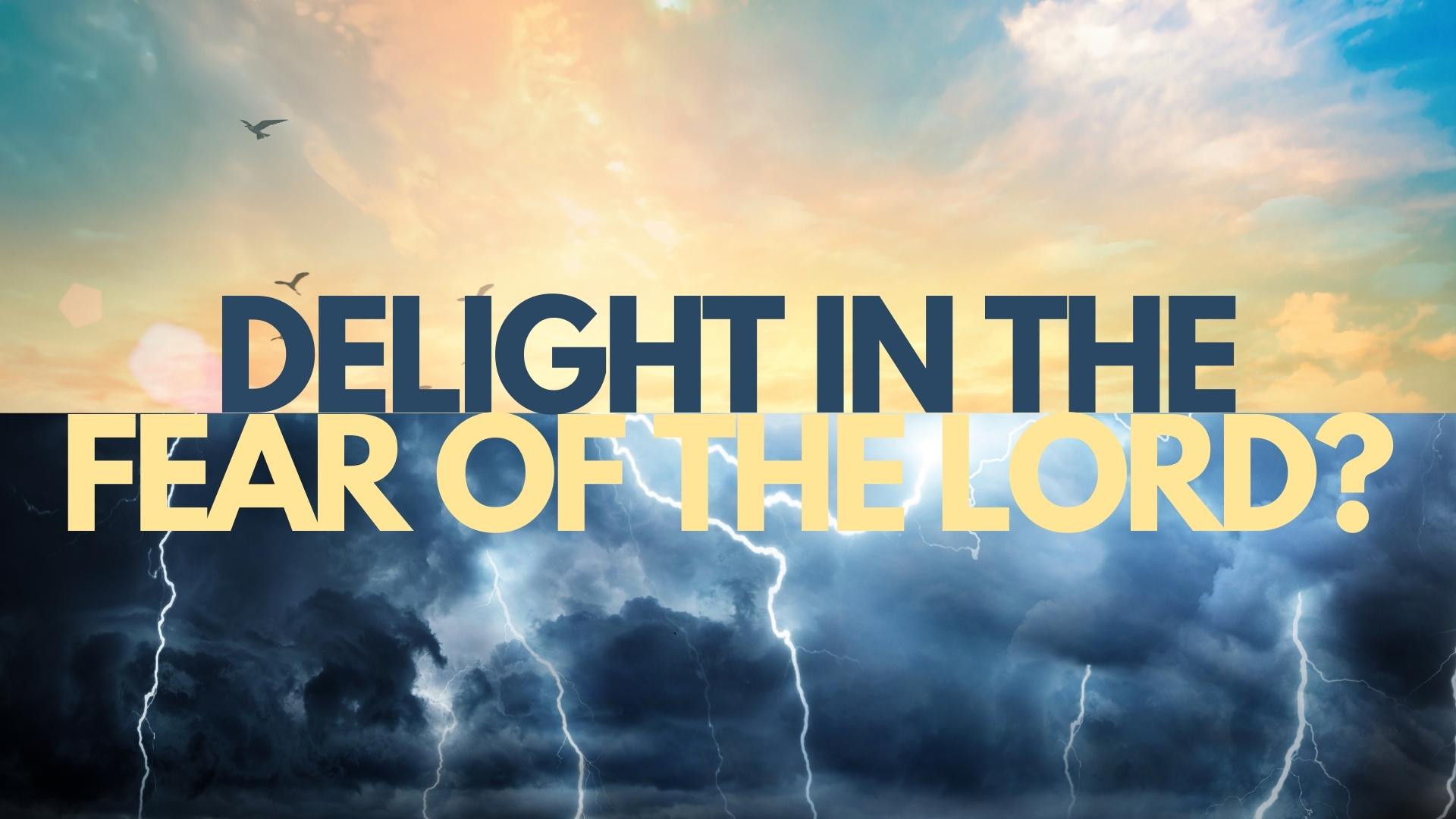 Delight in the Fear of the Lord
