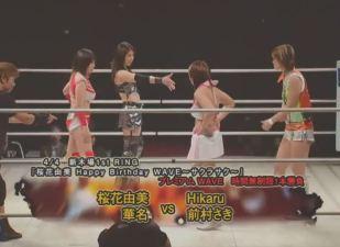 Kana and Yumi Ohka vs. Hikaru and Saki Maemura