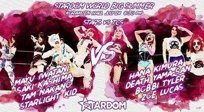 Bobbi Tyler, Death Yama-san, Hana Kimura, and Lucas vs. Mayu Iwatani, Saki Kashima, Starlight Kid, and Nakano