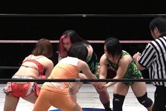 Chihiro Hashimoto and Mikoto Shindo vs. Nanami and Sareee
