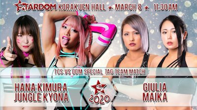 Hana and Kyona vs. Giulia and Maika
