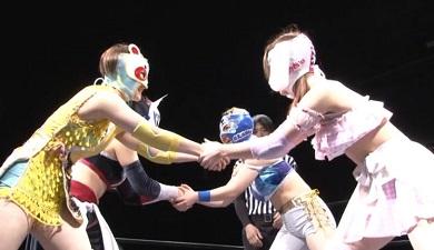 Ayano Irie and Misa Matsui vs. Ayumi Hayashi and Mari