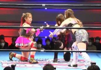Hamuko Hoshi vs. Mochi Miyagi vs. Miku Aono