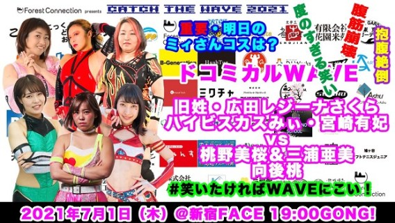 Pro Wrestling WAVE Catch the WAVE Poster