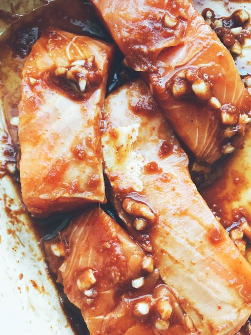 teriyaki marinated salmon