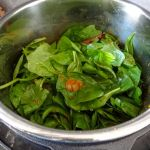 Mix in the spinach