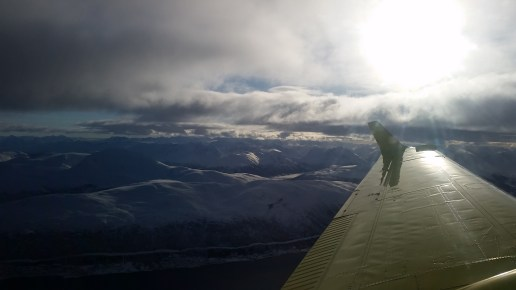 The views while flying a mission.