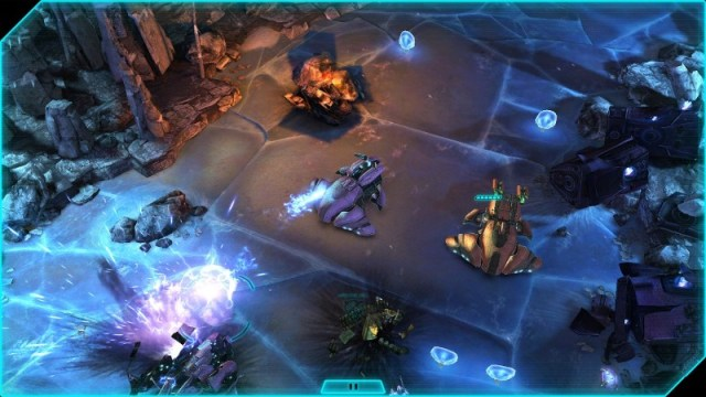 Halo Spartan Assault can be played via the touch screen.