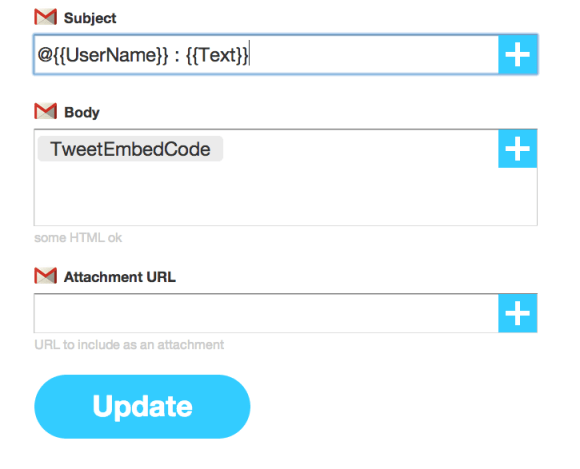 IFTTT settings