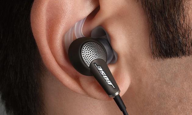 Bose in-ear headphone shot