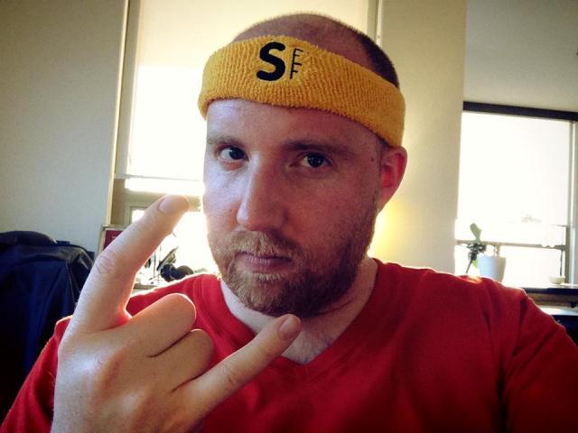 Josh Kerr wearing his game face