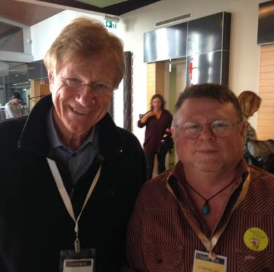 Lucky enough to meet Kerry O'Brien from the ABC