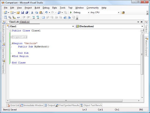 VB Net Versus C# Joshua Mouch Page 2