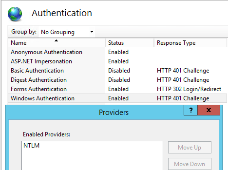 SharePoint: Common NTLM Authentication Issues, aka: Consider